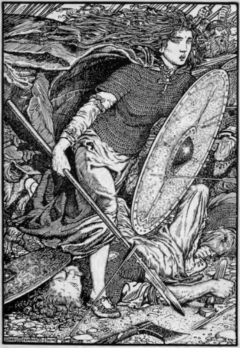Lagertha/Lathgertha (Shildmaiden) By Morris Meredith Williams (1881-1973) [Public domain], via Wikimedia Commons